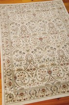 """4x6 (3'9"""" x 5'9"""") William Morris Arts & Crafts Mission Style Ivory Area Rug - $125.00"""