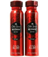 2 Count Old Spice Re Fresh Swagger Body Spray 1 Spritz Lasts All Day 3.7... - $24.99