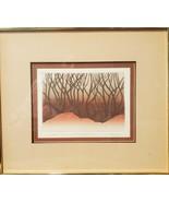 J. Valentine Original Print, No.32 / 250,Vintage,Signed,1981,Framed,Earthy - $100.00
