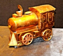 Metal Train Engine Music Box AA19-1487 Vintage