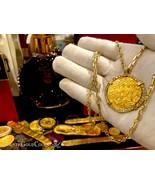 FLEET SHIPWRECK COIN WITH GOLD DIAMOND BEZEL NECKLACE PENDANT JEWELRY PE... - $14,500.00