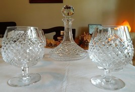 Waterford Crystal Alana Pattern Ship's Decanter & Brandy Balloon - $500.00