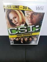 Nintendo Wii CSI Hard Evidence 2007 - $8.80