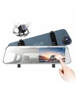"TOGUARD Backup Camera 5"" LCD Mirror Dash Cam Rear View Mirror Camera Ult... - $69.35"