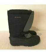 Columbia Youth Powderbug Plus Snow Boot Kids Size 6 Gray Black Winter Wa... - $23.99