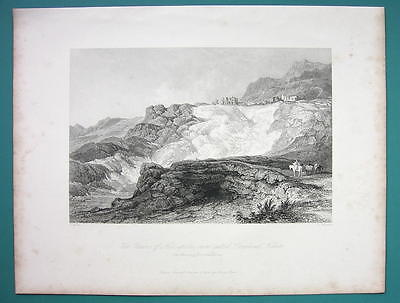 TURKEY Remains of Hierapolis - 1840 Antique Print by Allom