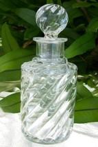 "7.75"" Tall SWIRL Clear Perfume/Cologne Bottle~Pontil Mark~Old~Heavy~Gorg... - $99.99"