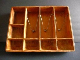 Vintage Antique CASH Coin REGISTER DRAWER Tray Heavy solid Wood & Metal - $25.74