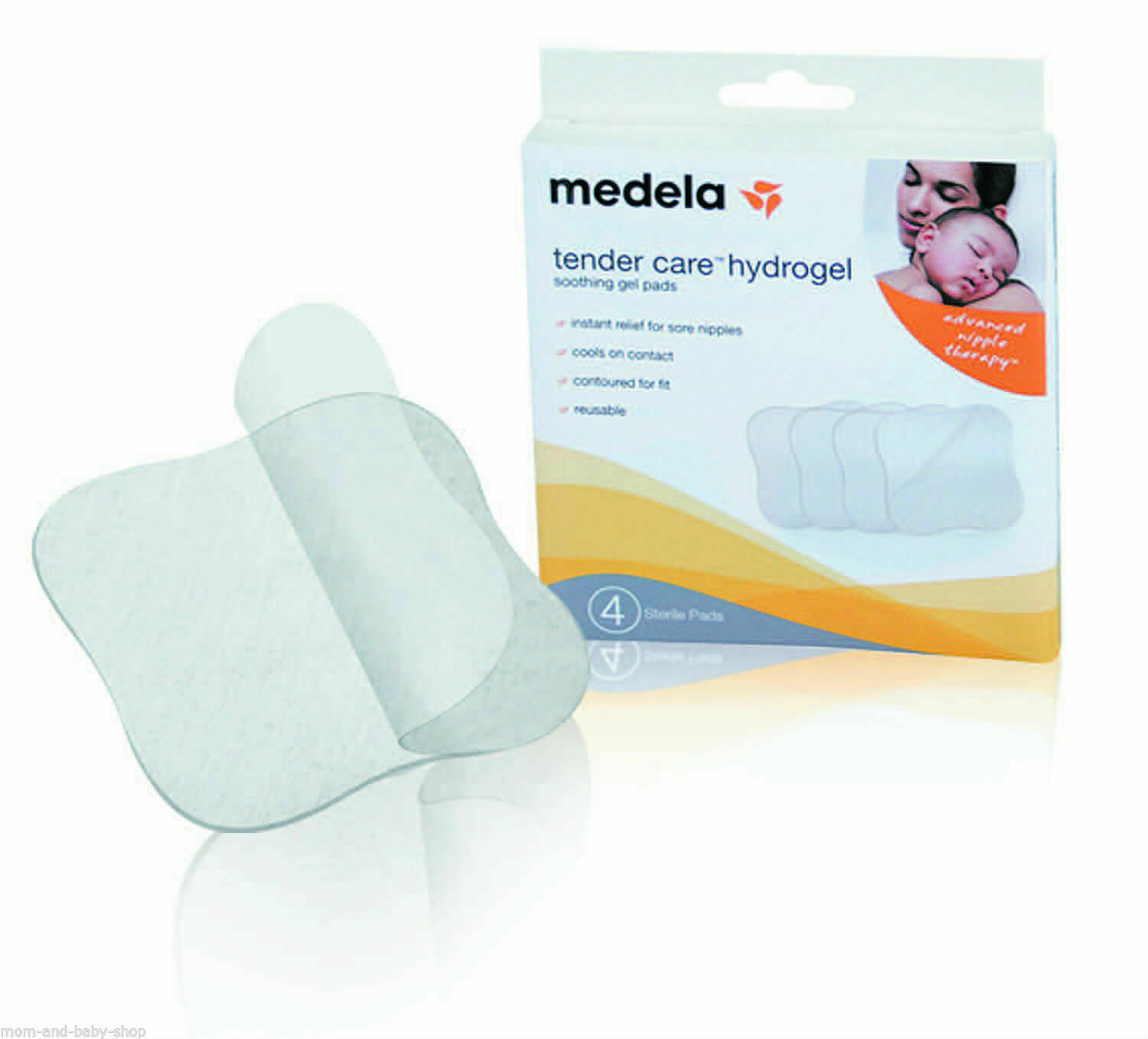 Primary image for MEDELA BREAST FEEDING TENDER CARE HYDROGEL PADS SORE CRACKED NIPPLE x4 #87123