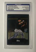 2005 ALEX RODRIGUEZ BOWMAN CHROME SIGNED CARD /100 PSA SPEED STICK NNO CARD - $71.25