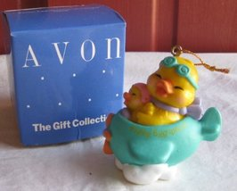 Easter Eggspression Plane Ornament By Avon - $24.75