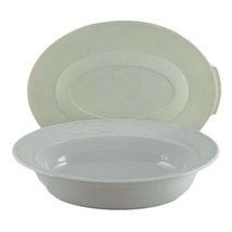 Corning Ware Casual Elegance Oval Casserole Serving Bowl L-31 Plastic Lid L31-PC - $18.70