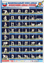 Posters JUDO. Blue   belt  1 poster.The technique of judo. - $15.00