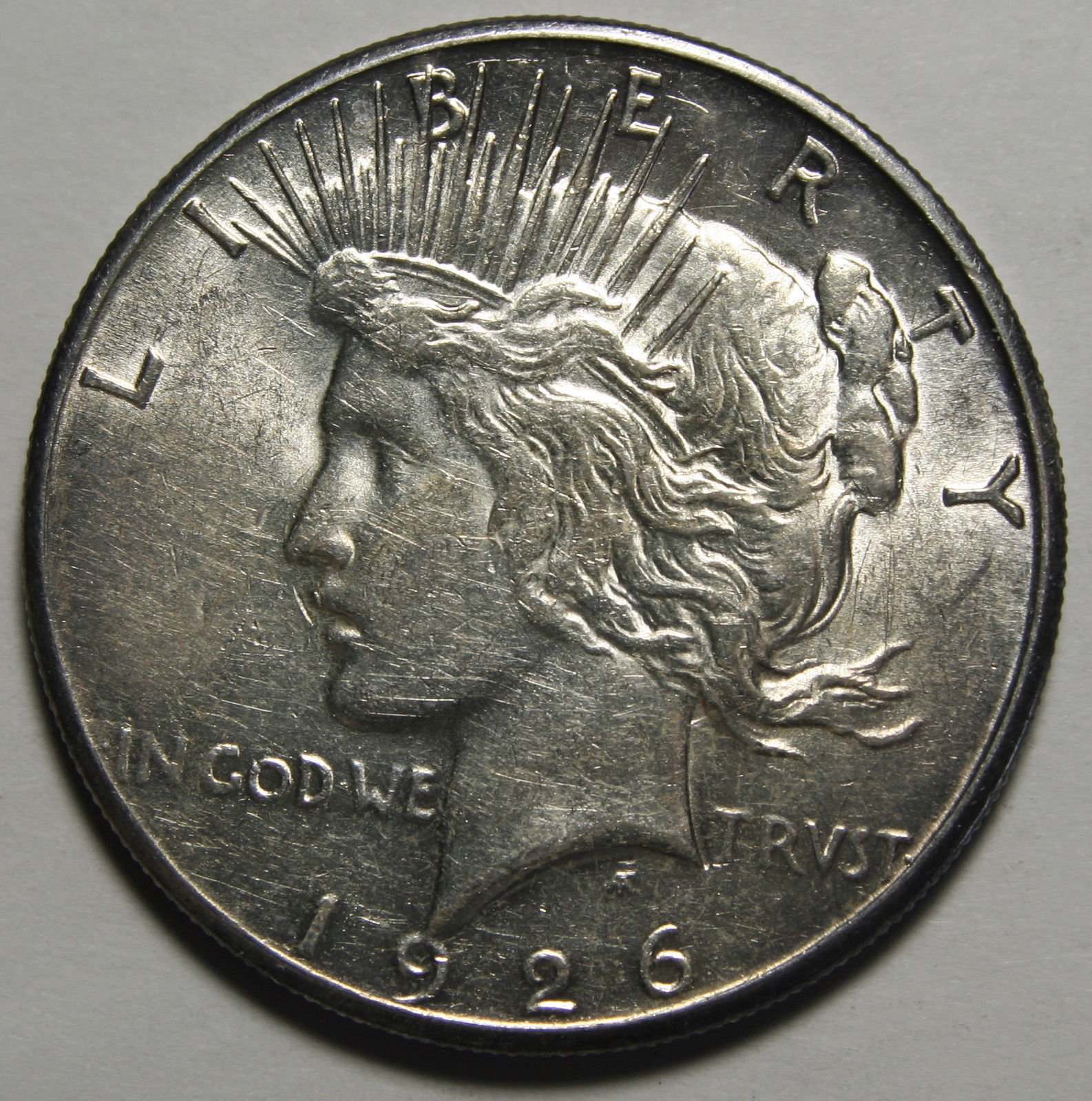 1926S Peace Silver Dollar Coin - Lot # A 1922