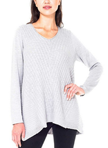 Beatrix Ost Ladies' V Neck Sweater ,Gray, Size XXL image 1