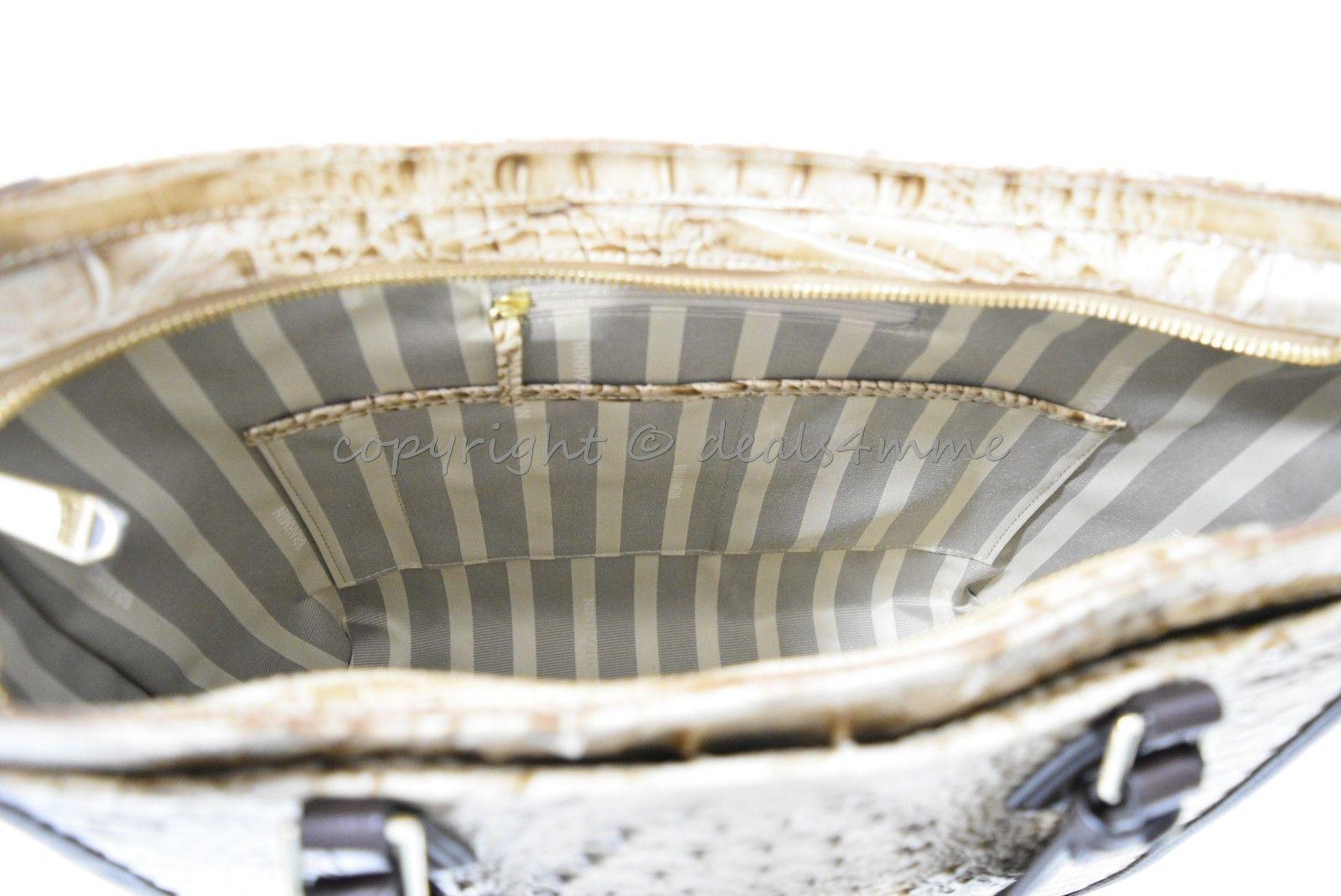 NWT  Brahmin Medium Lena Leather Tote/Shoulder Bag in Travertine Vermeer image 10