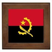 Angola Flag Framed Wall Tile Art (Home Decor) - $12.57