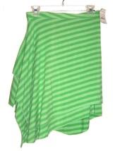 Sz S - NWT $50 Express Green Stripe Asymmetrical Stretch Skirt  - $37.99