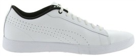 Puma Leather Court Sneakers Smash Perf White 9M NEW A302111 - $45.52