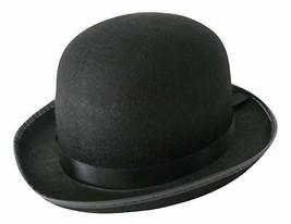 Jacobson Hat Company Men's Roaring 20's Black Felt Derby Light Bowler To... - $15.19
