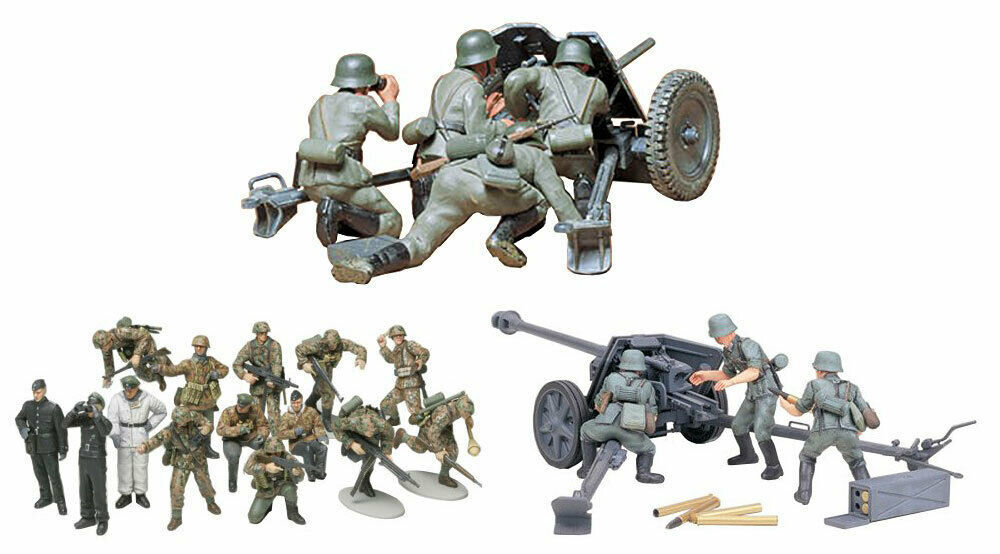 Primary image for 3 Tamiya Models -  75 mm PAK 40/L46, 37 mm PAK 35/36 and German Panzer Grenadier