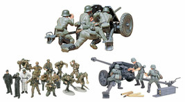 3 Tamiya Models -  75 mm PAK 40/L46, 37 mm PAK 35/36 and German Panzer G... - $39.59