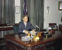 President John F. Kennedy speaks to nation about nuclear testing New 8x1... - $8.81