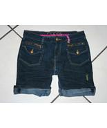 Coogi Denim Shorts Embroidered Design and Trim Stitching Size 12 Stretch... - $10.99