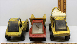 3 Pc Gabriel Industries Pressed Steel Lot 1969 Dump + 1975 Concrete + 19... - $33.54