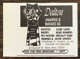 1977 Dalton Awards and Badges Avon, MA Print Ad Horse Show Ribbon - $7.15