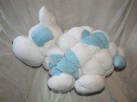 Commonwealth Puff Puffy Stuffed Plush Velour Quilted White Blue Cow Bull... - $128.69