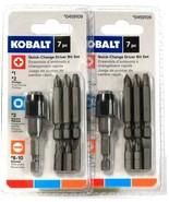 2 Packs Kobalt 7 Piece 0459109 Quick Change Driver Bit Set High Grade S2... - $19.99
