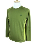 Nike Men's ACG All Conditions Gear Fit Dry Long Sleeve Green Shirt Large - $20.78