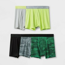 Boys' 4 PACK Printed Boxer Briefs - All in Motion, colors may vary, SMAL... - $10.99