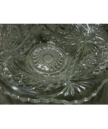 """Antique EAPG 1910 Imperial Glass """"Hobstar""""  Roanoke Star BIG BOWL with R... - $29.99"""