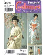 Simplicity Costumes Pattern 4080 Kimono & Accessories Misses Szs 6-12 Uncut - $8.99