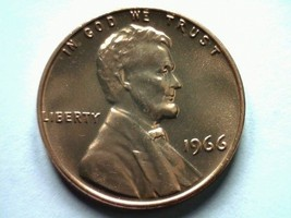1966 Sms Special Mint Set Lincoln Cent Penny Gem / Superb Uncirculated Red Sms - $12.00