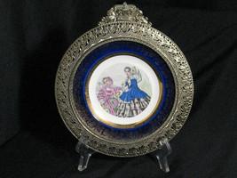 Century Salem 23k Gold trim Fancy Frame Plate Victorian women Civil war ... - $11.39