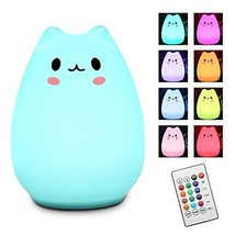 Remote Control Multi-color Children Night Light Elfeland Cute LED Kitty ... - €22,79 EUR