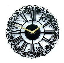 30cm New Modern Metal Wall Clock Open Face Roman Numerals Home Decor Dem... - $55.00