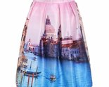 Ess skirt one size pink vintage city print street view pleated skirt 1232716333087 thumb155 crop