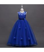 Royal Blue Tulle Wedding Flower Girls Dresses , Pricess Girls Gowns ,Tul... - $41.25