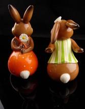 Vintage kissing bunny goebel - new mom gift - mothers day gift - german figurine image 4