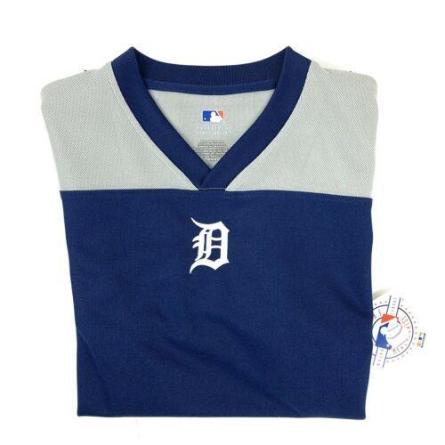 Detroit Tigers Jersey Women's Size M Genuine Merchandise Short Sleeve Blue Gray - $28.37