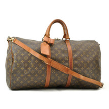 LOUIS VUITTON Monogram Keepall Bandouliere 55 Boston Bag M41414 LV Auth ... - $480.00