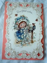 Vintage Hallmark Charmers Loved Filled Wishes Birthday Card 1970s - $4.99
