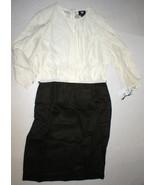 Womens NWT $398 Worth New York 6 Dress Brown White Silk Tencel Colorbloc... - $90.00