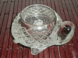 Turtle Sparkling Clear Pressed Diamond Glass Votive Candle Holder 1970's... - $14.84