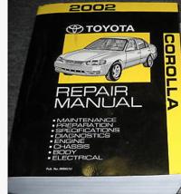 2002 TOYOTA COROLLA Service Repair Workshop Shop Manual OEM FACTORY  - $128.69