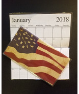 2018-2019 American Flag Wavy  2 Year Pocket Planner Calendars - $1.88